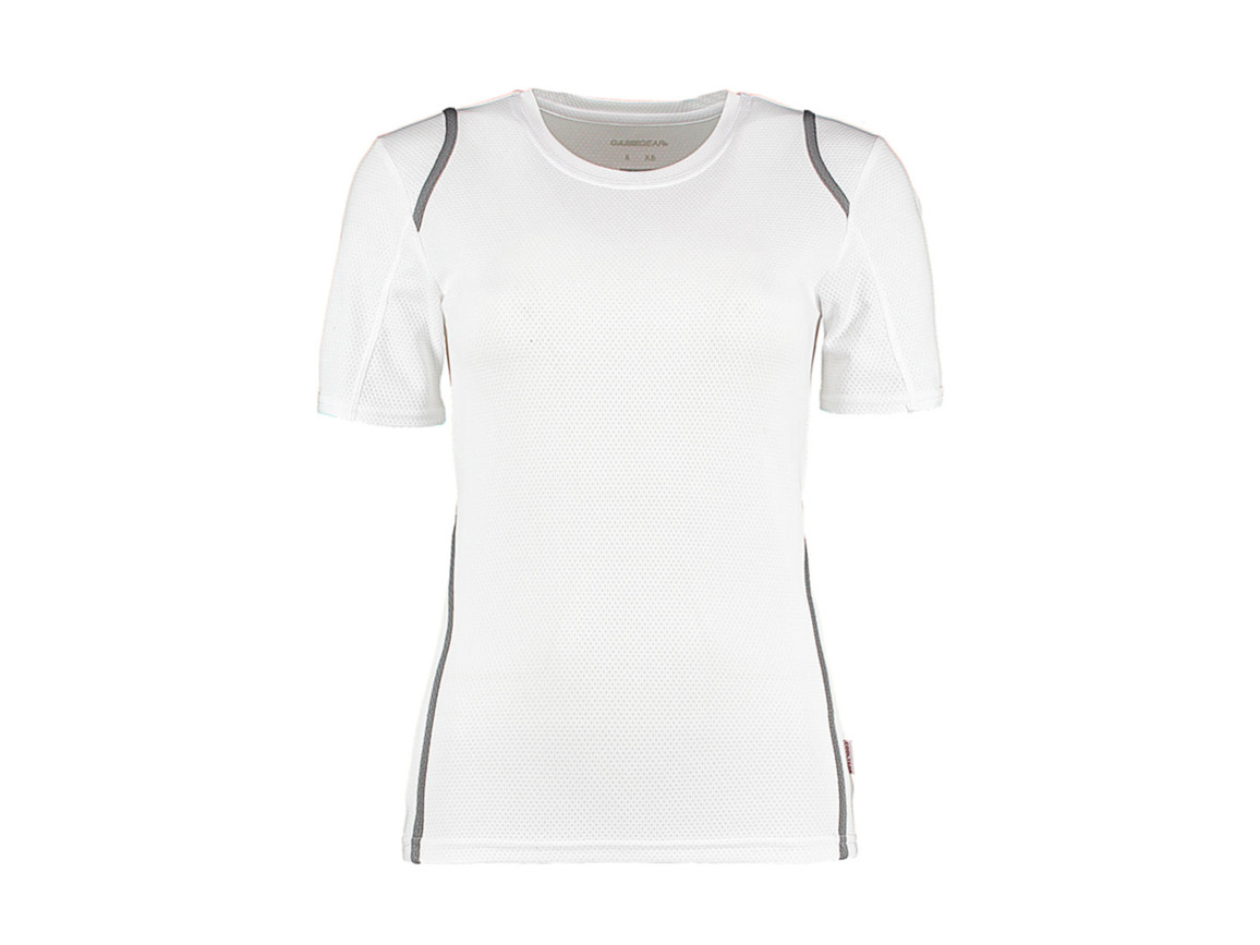 Kustom Kit Women`s Regular Fit Cooltex® Contrast Tee, White/Grey, XS bedrucken, Art.-Nr. 002110551