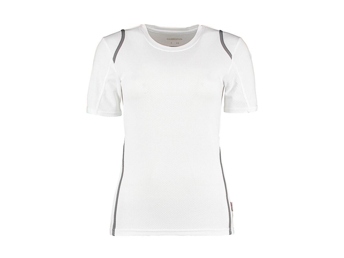 Kustom Kit Women`s Regular Fit Cooltex® Contrast Tee, White/Grey, L bedrucken, Art.-Nr. 002110554
