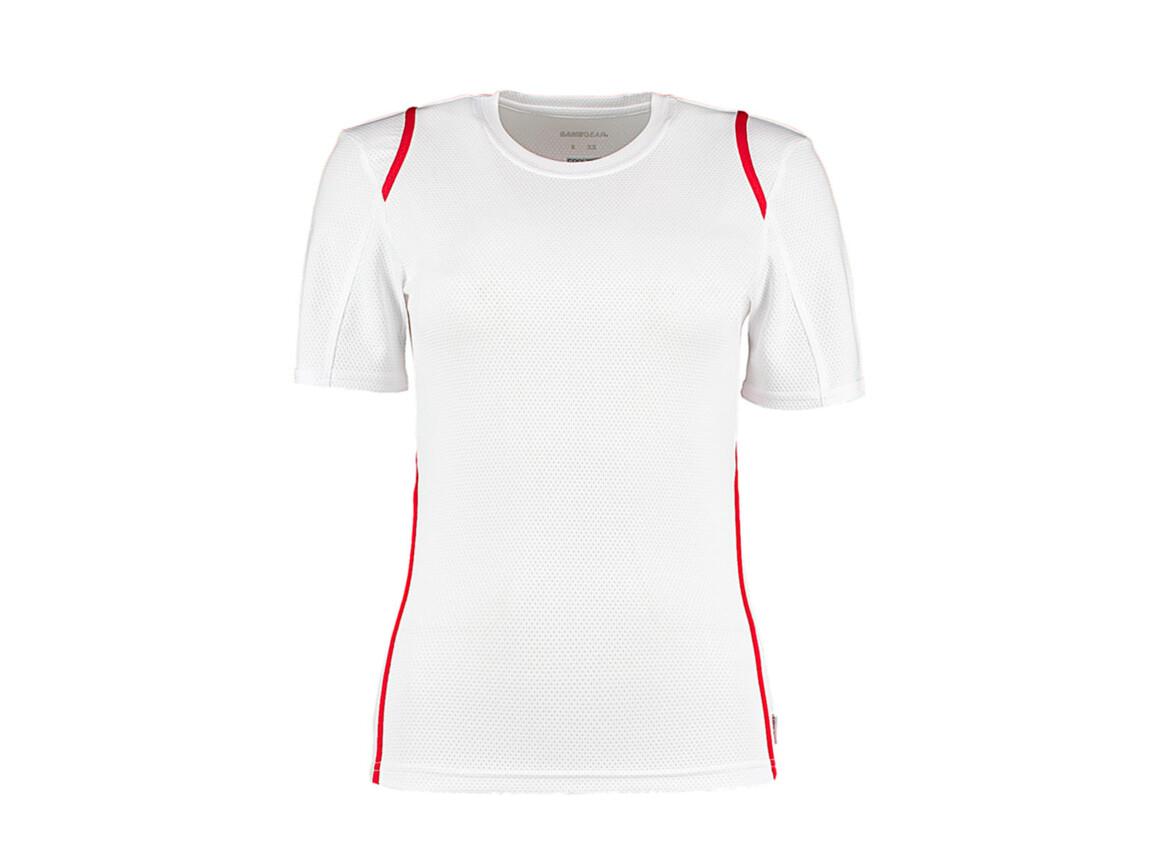 Kustom Kit Women`s Regular Fit Cooltex® Contrast Tee, White/Red, M bedrucken, Art.-Nr. 002110573