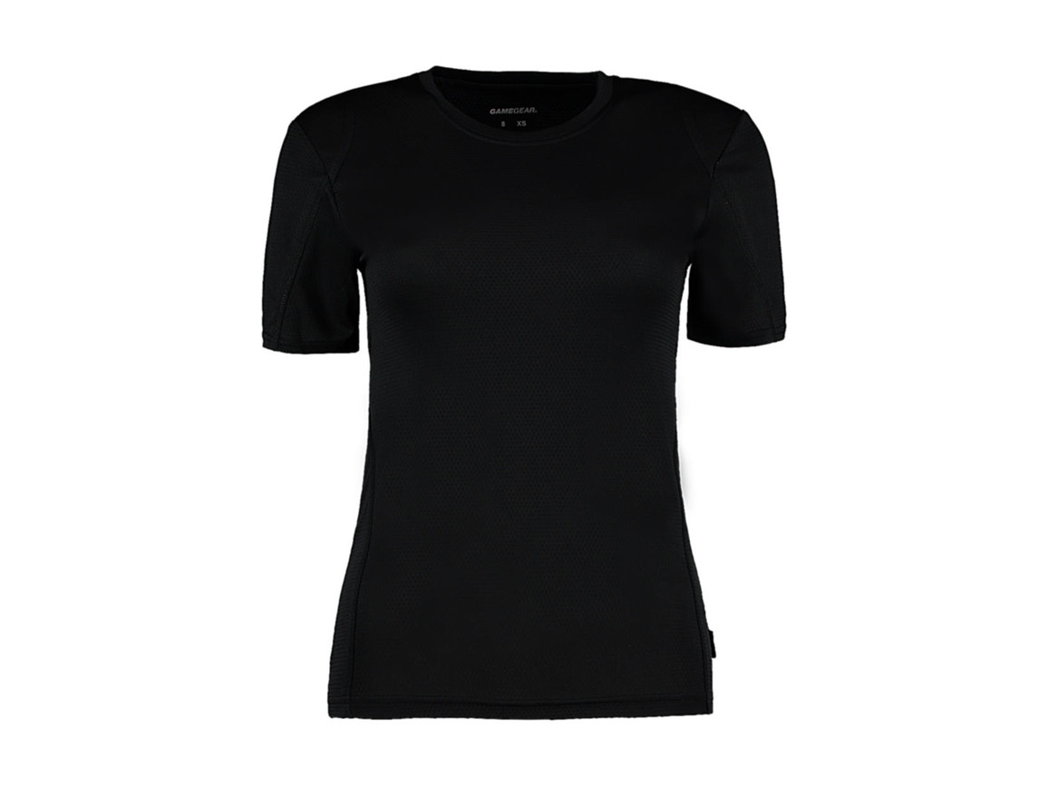 Kustom Kit Women`s Regular Fit Cooltex® Contrast Tee, Black/Black, XS bedrucken, Art.-Nr. 002111521