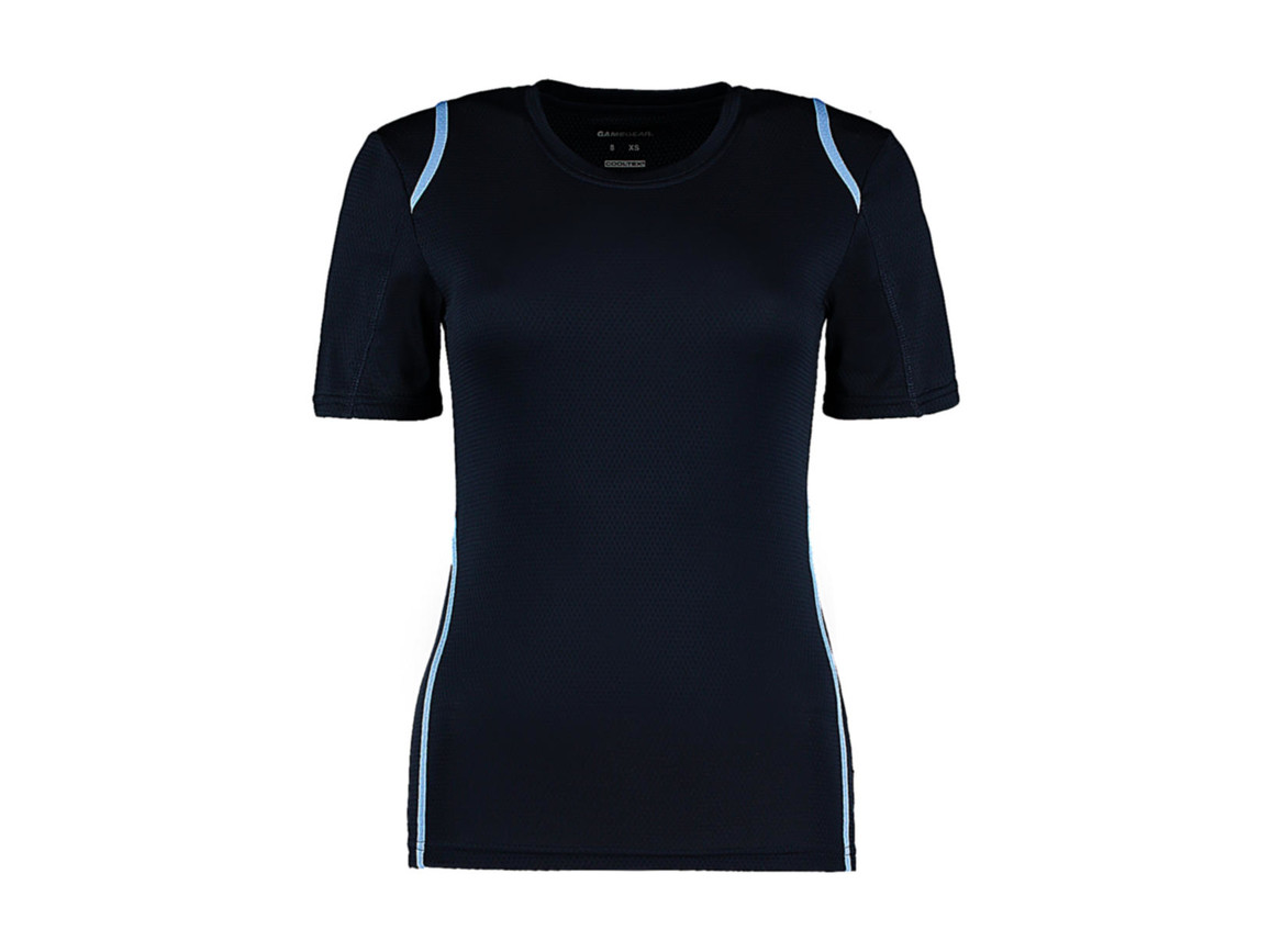 Kustom Kit Women`s Regular Fit Cooltex® Contrast Tee, Navy/Light Blue, M bedrucken, Art.-Nr. 002112413
