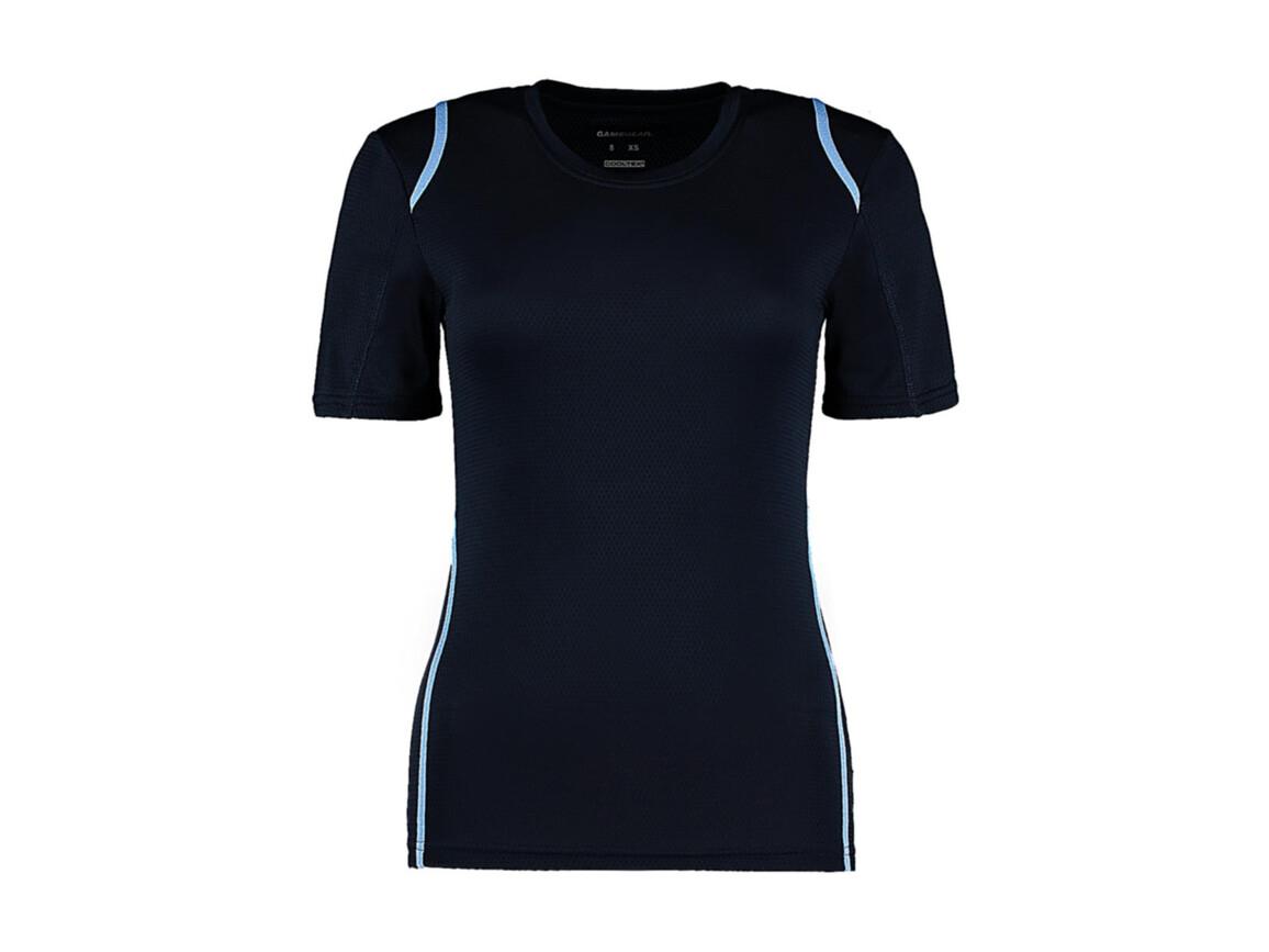 Kustom Kit Women`s Regular Fit Cooltex® Contrast Tee, Navy/Light Blue, XL bedrucken, Art.-Nr. 002112415