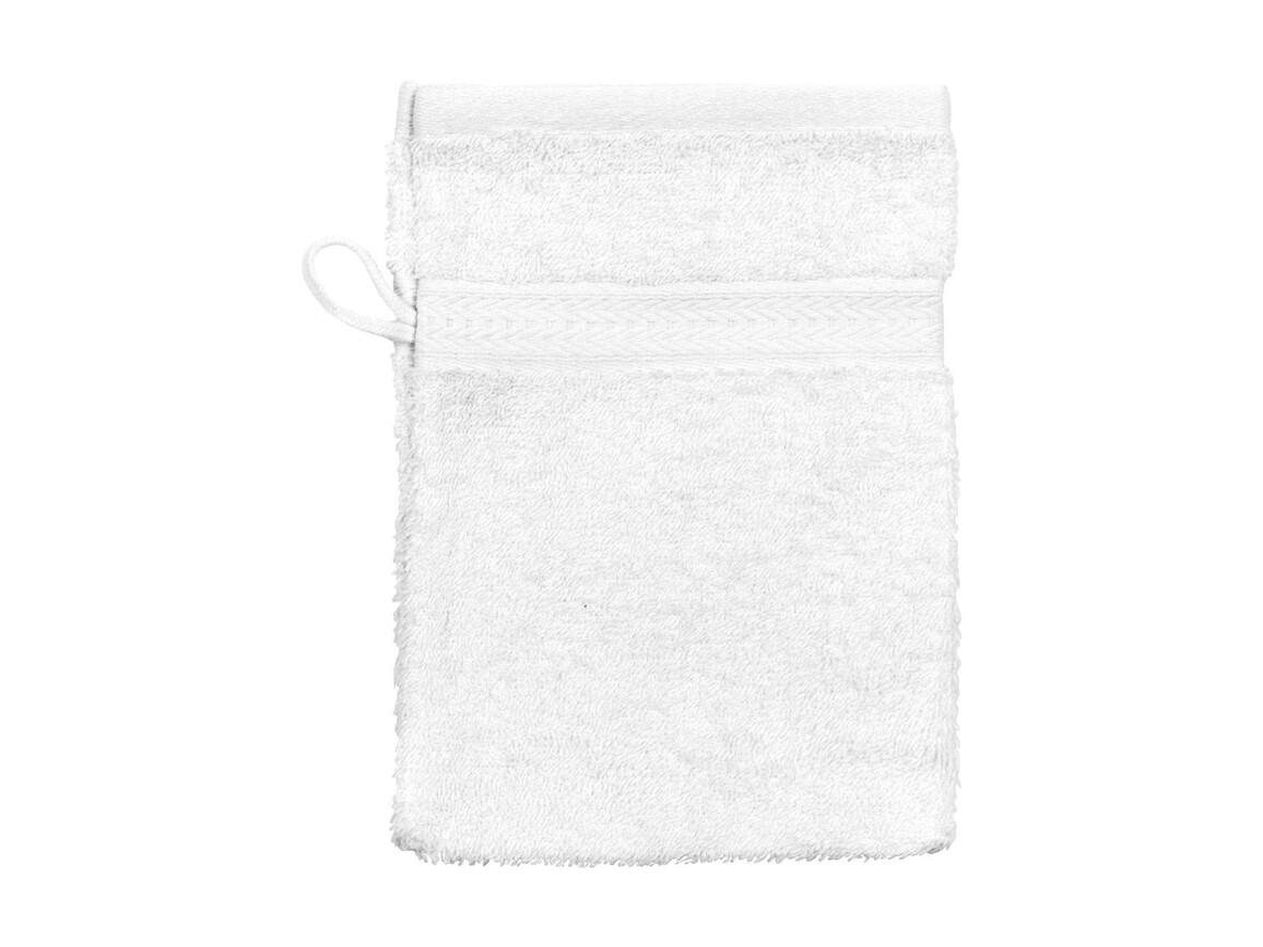 Jassz Towels Rhine Wash Glove 16x22 cm, White, One Size bedrucken, Art.-Nr. 002640000