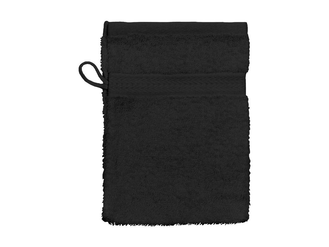Jassz Towels Rhine Wash Glove 16x22 cm, Black, One Size bedrucken, Art.-Nr. 002641010