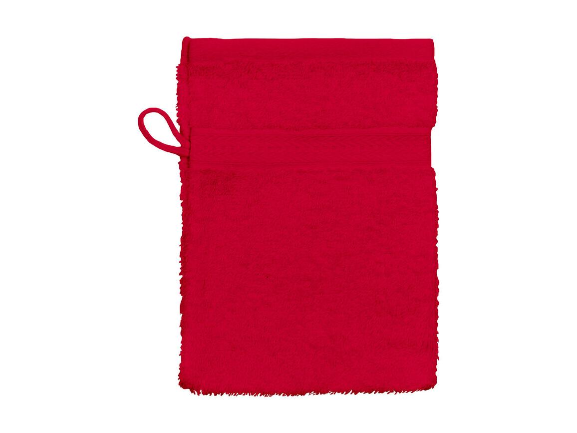 Jassz Towels Rhine Wash Glove 16x22 cm, Red, One Size bedrucken, Art.-Nr. 002644000