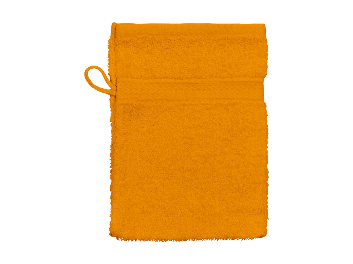 Jassz Towels Rhine Wash Glove 16x22 cm, Orange, One Size bedrucken, Art.-Nr. 002644100