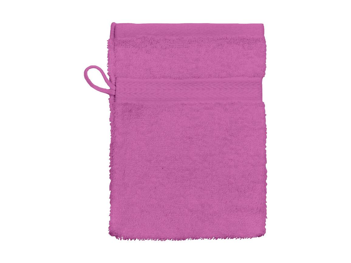 Jassz Towels Rhine Wash Glove 16x22 cm, Fuchsia, One Size bedrucken, Art.-Nr. 002644390