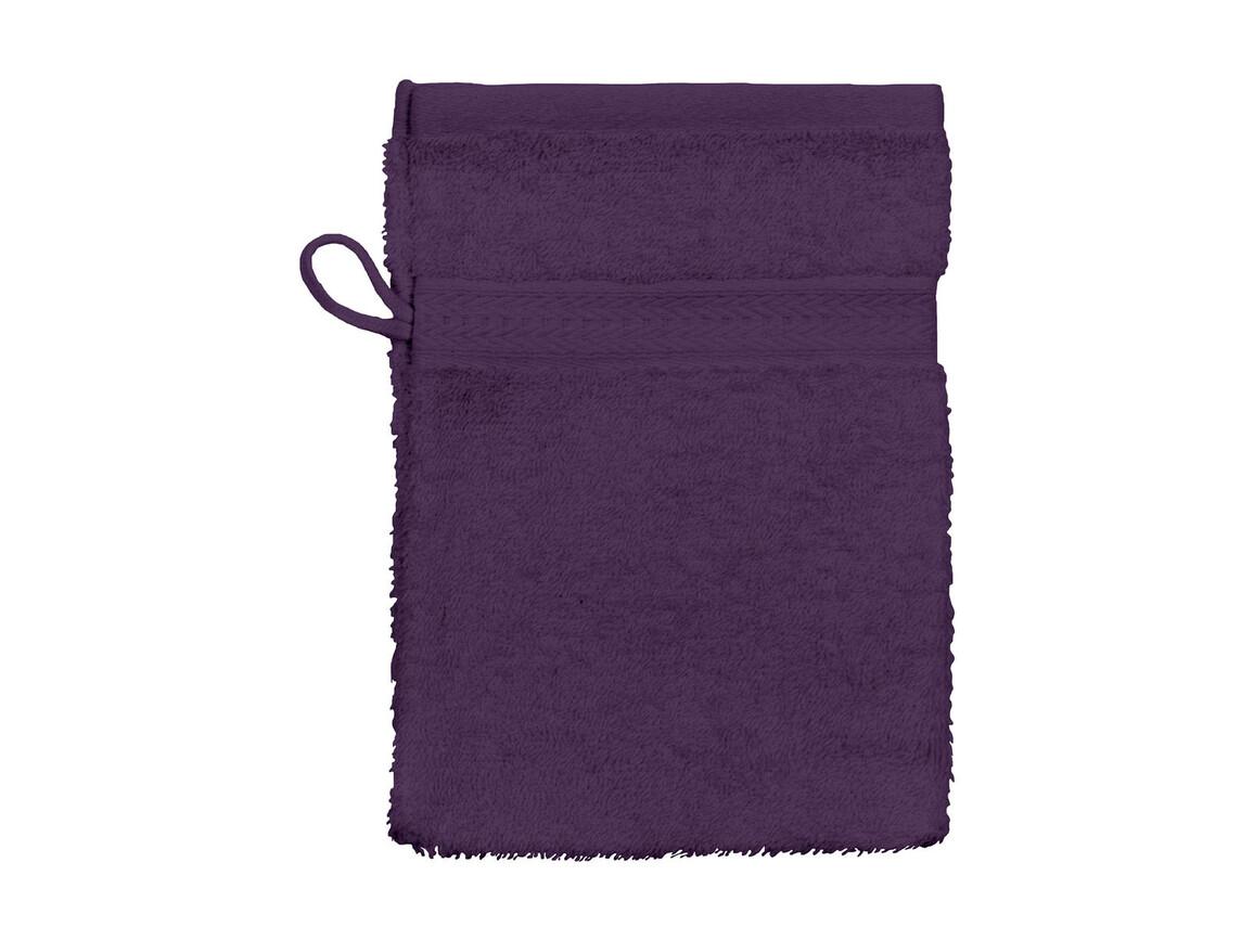 Jassz Towels Rhine Wash Glove 16x22 cm, Aubergine, One Size bedrucken, Art.-Nr. 002644440