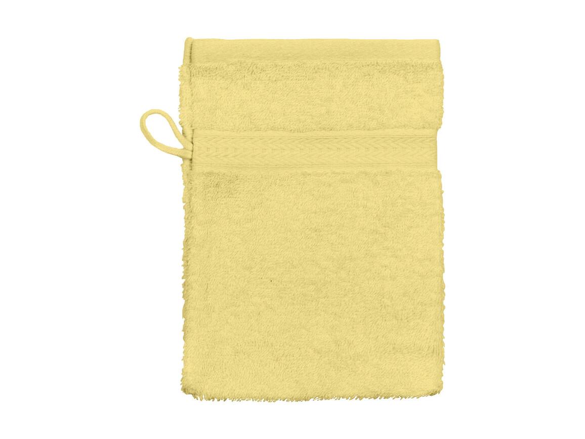 Jassz Towels Rhine Wash Glove 16x22 cm, Yellow, One Size bedrucken, Art.-Nr. 002646000