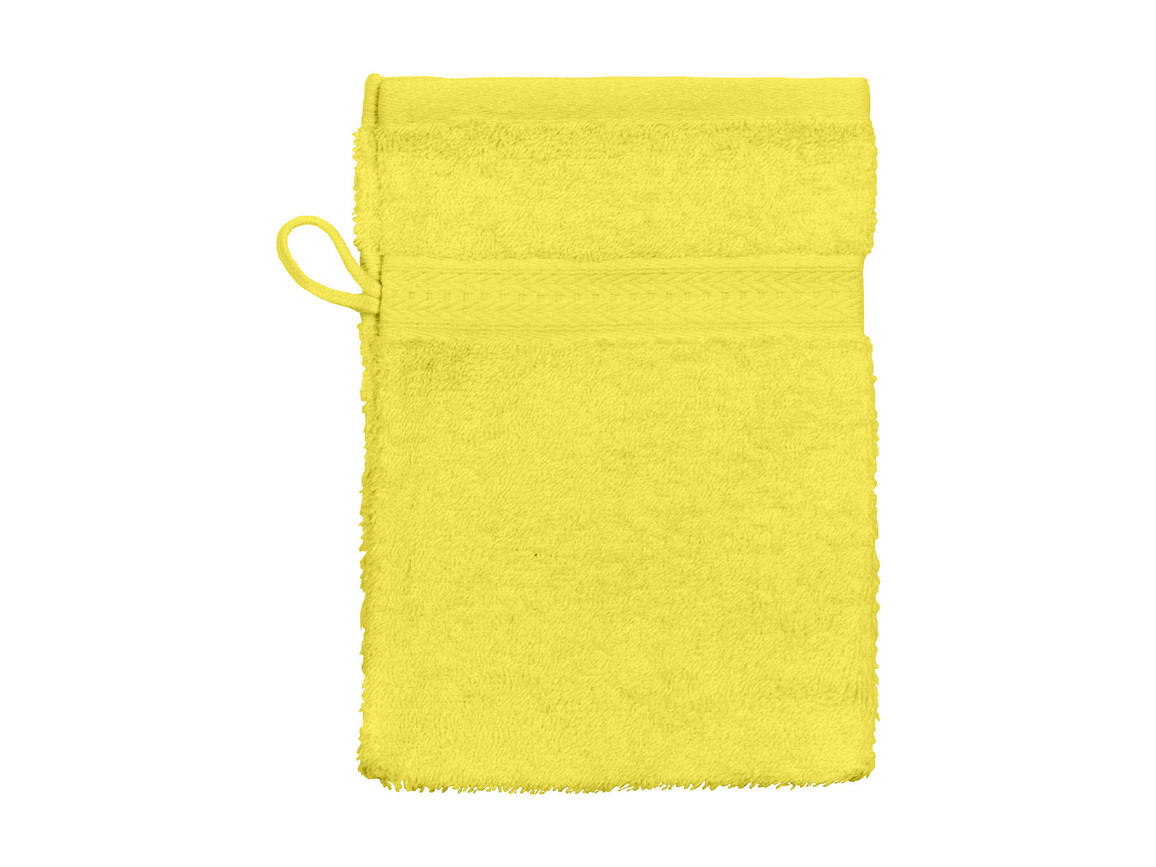Jassz Towels Rhine Wash Glove 16x22 cm, Bright Yellow, One Size bedrucken, Art.-Nr. 002646030