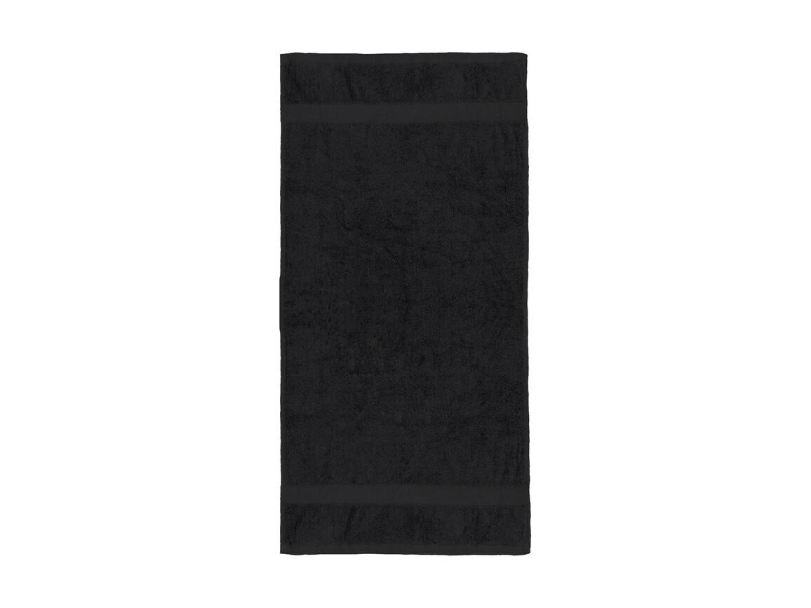 Jassz Towels Seine Hand Towel 50x100 cm, Black, One Size bedrucken, Art.-Nr. 003641010