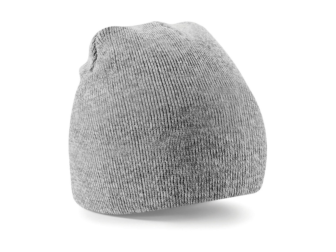 Beechfield Original Pull-On Beanie, Heather Grey, One Size bedrucken, Art.-Nr. 003691230