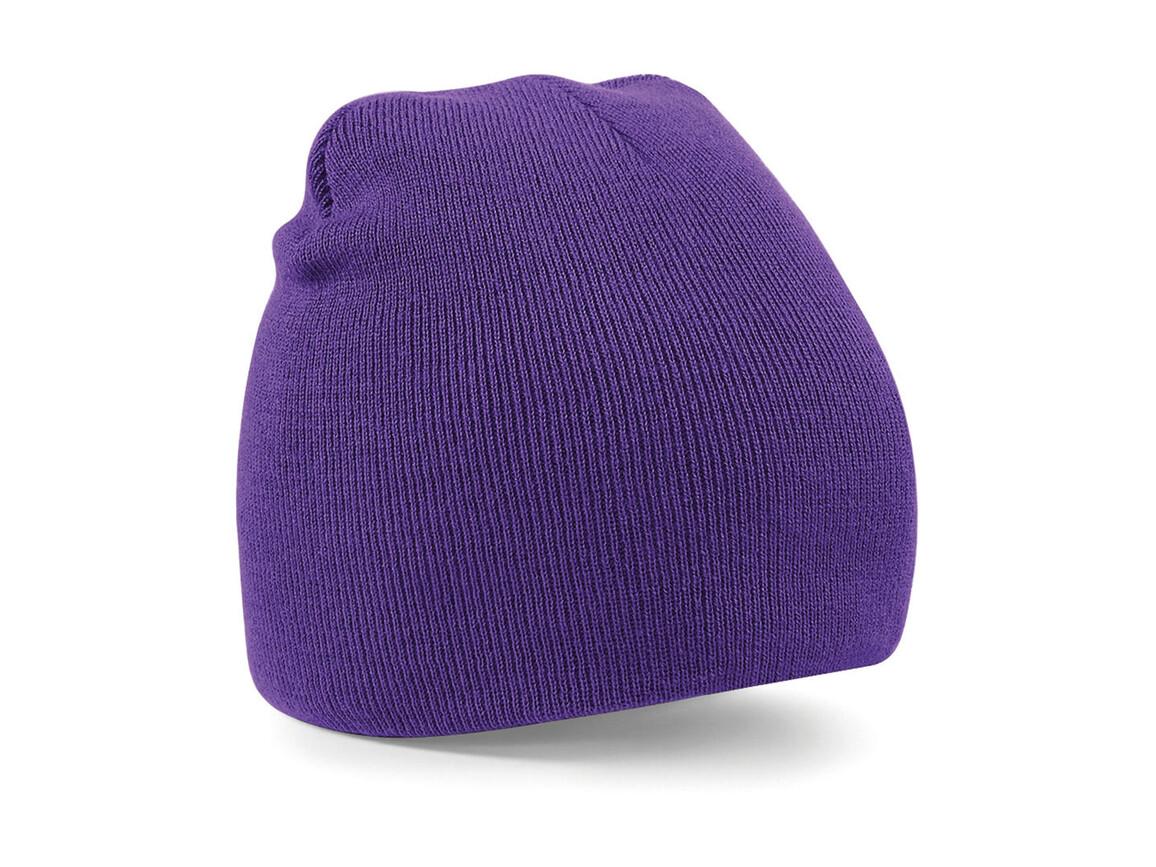 Beechfield Original Pull-On Beanie, Purple, One Size bedrucken, Art.-Nr. 003693490