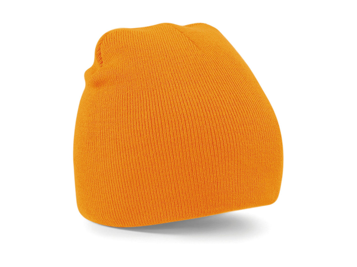 Beechfield Original Pull-On Beanie, Flourescent Orange, One Size bedrucken, Art.-Nr. 003694050