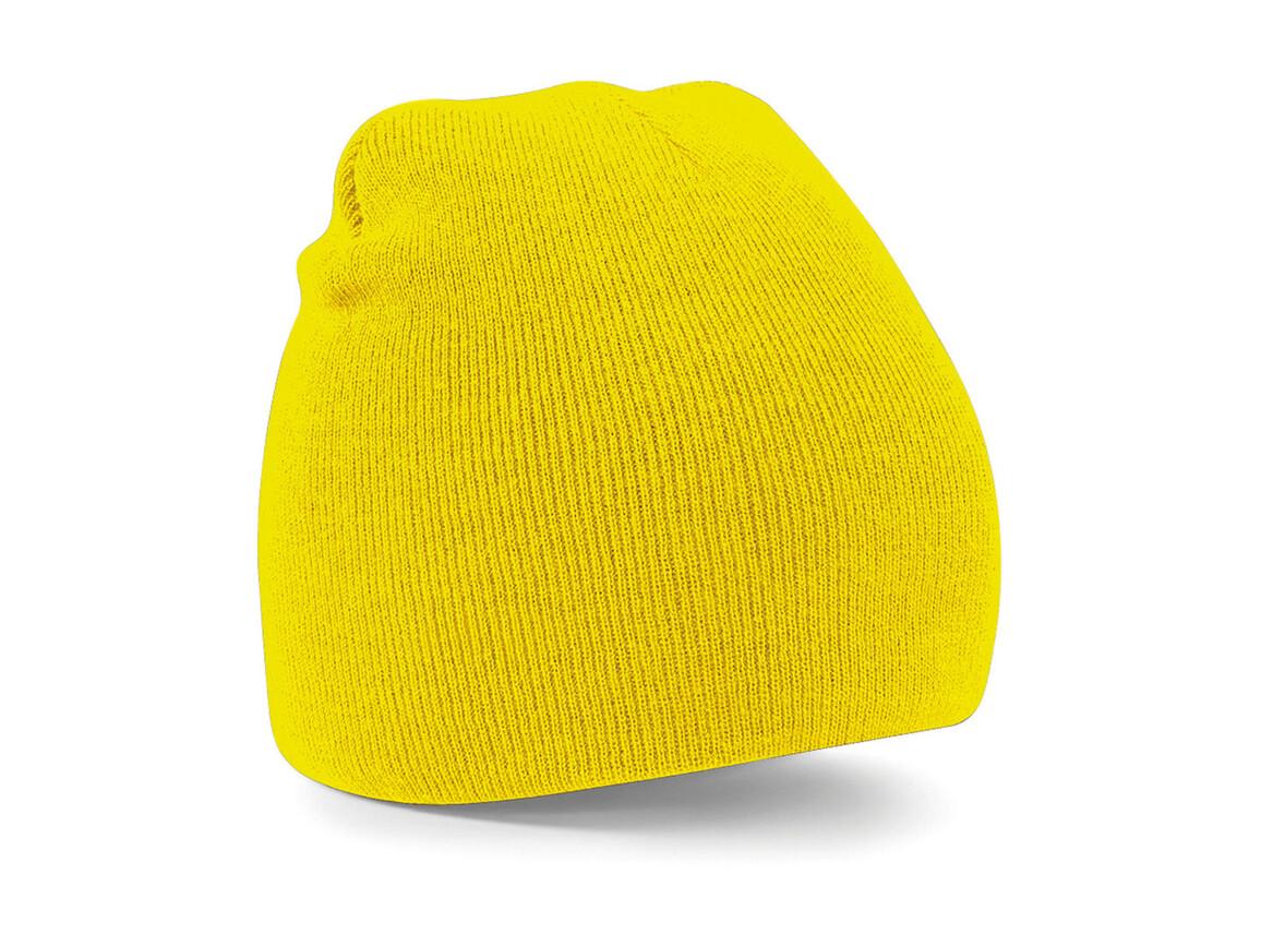 Beechfield Original Pull-On Beanie, Yellow, One Size bedrucken, Art.-Nr. 003696000