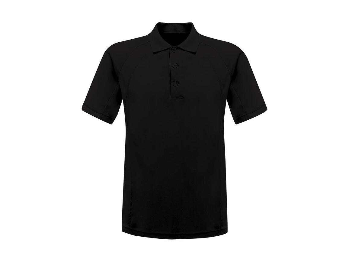 Regatta Coolweave Wicking Polo, Black, M bedrucken, Art.-Nr. 005171014