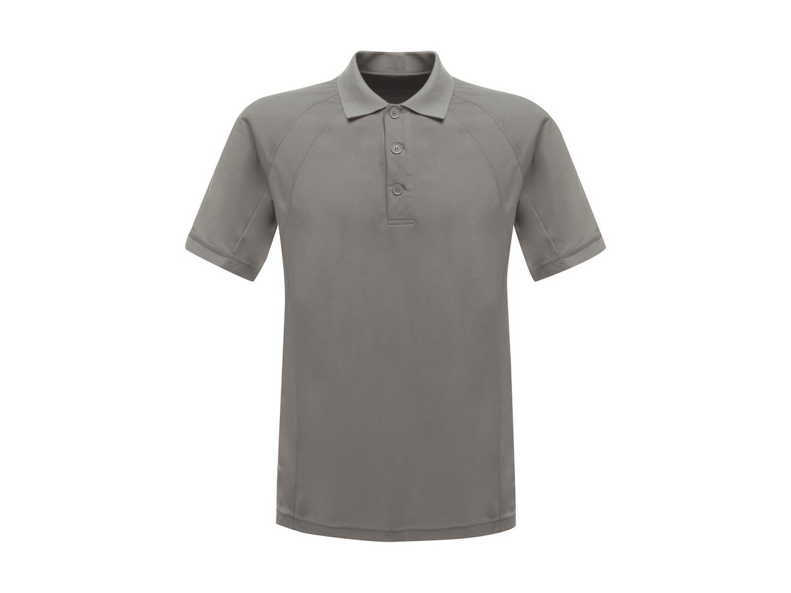 Regatta Coolweave Wicking Polo, Silver Grey, XL bedrucken, Art.-Nr. 005177146