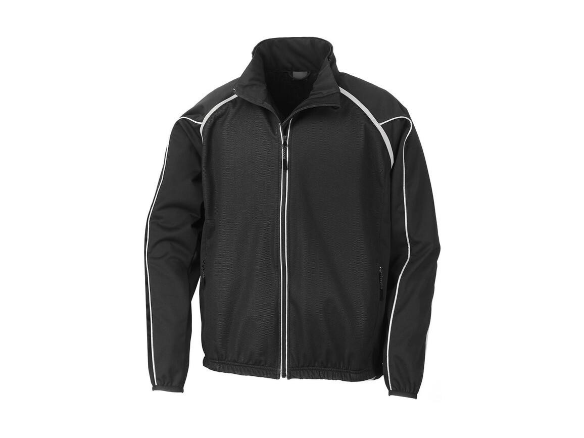 Result Men`s Race System Jacket, Black, S bedrucken, Art.-Nr. 008331013