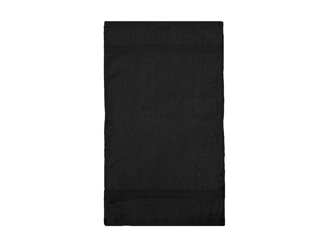 Jassz Towels Rhine Guest Towel 30x50 cm, Black, One Size bedrucken, Art.-Nr. 009641010