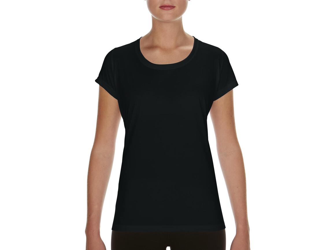Gildan Performance Ladies` Core T-Shirt, Black, L bedrucken, Art.-Nr. 010091015