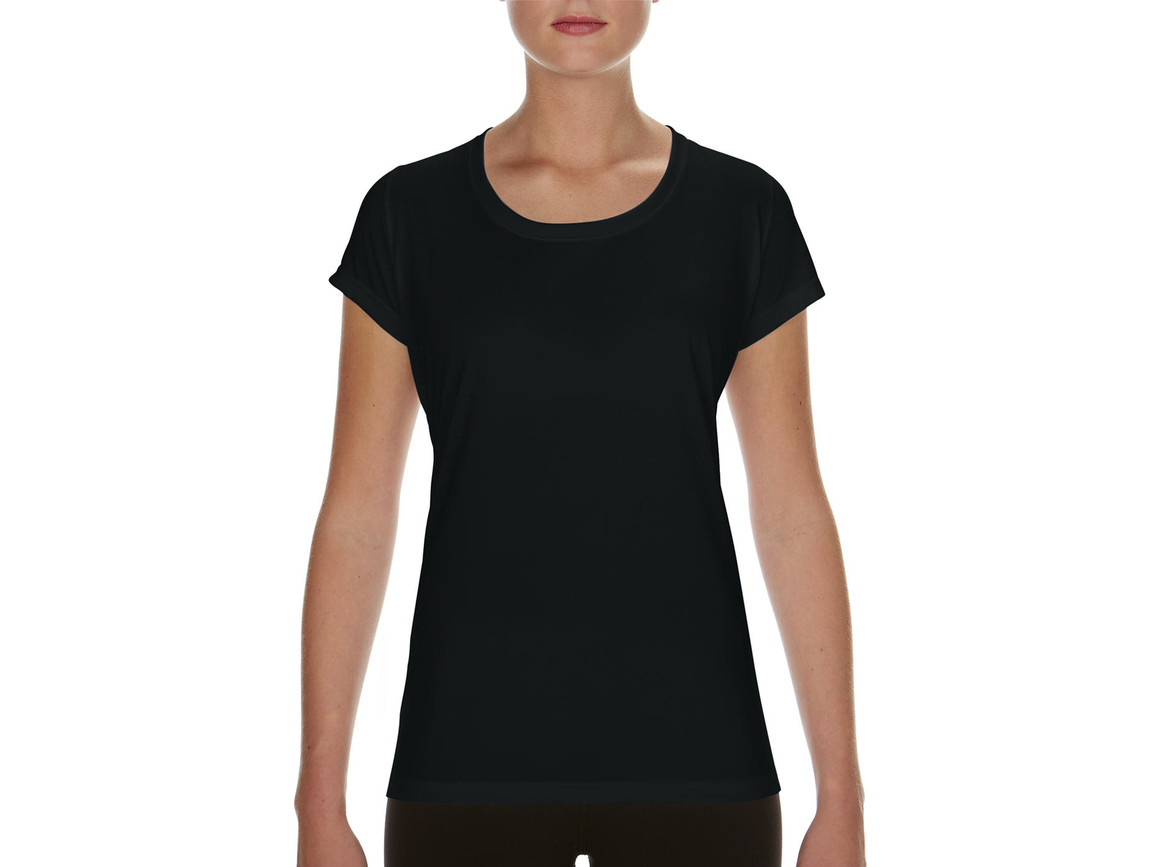 Gildan Performance Ladies` Core T-Shirt, Black, S bedrucken, Art.-Nr. 010091013