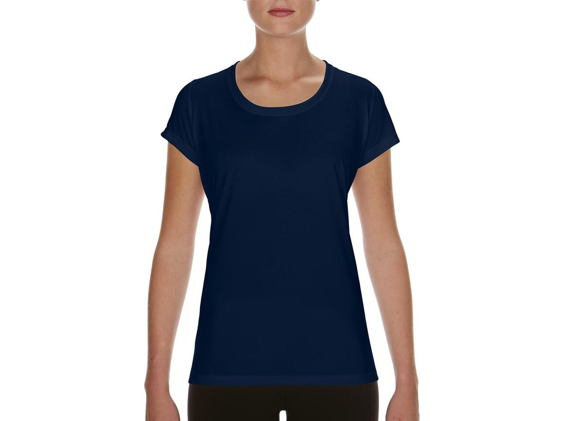 Gildan Performance Ladies` Core T-Shirt, Sport Dark Navy, M bedrucken, Art.-Nr. 010092034