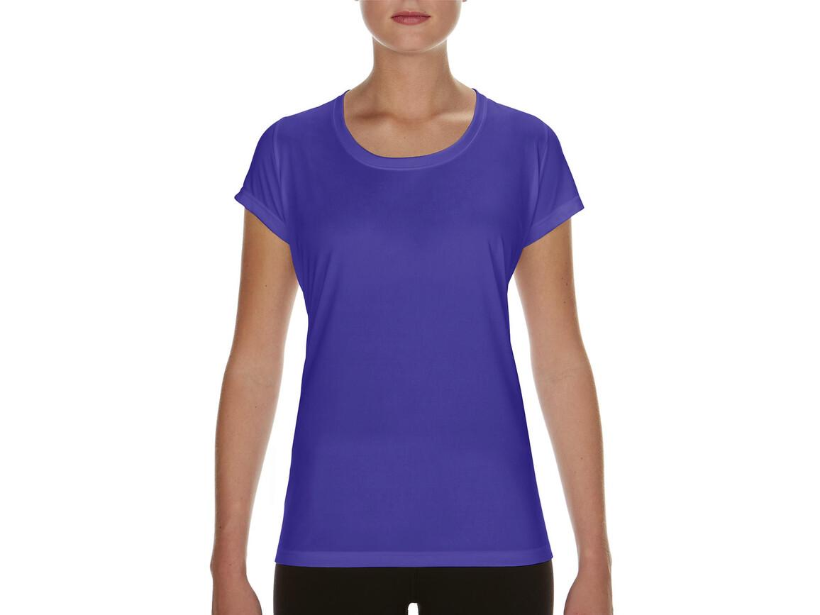 Gildan Performance Ladies` Core T-Shirt, Sport Purple, L bedrucken, Art.-Nr. 010093145