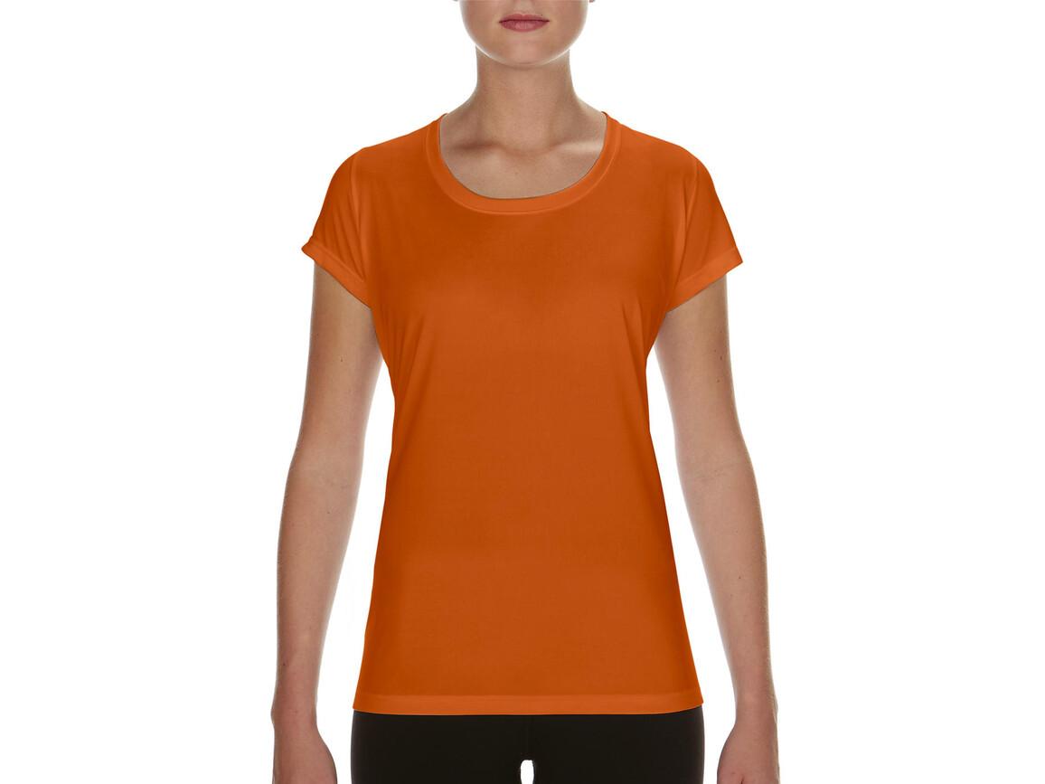 Gildan Performance Ladies` Core T-Shirt, Sport Orange, M bedrucken, Art.-Nr. 010094164