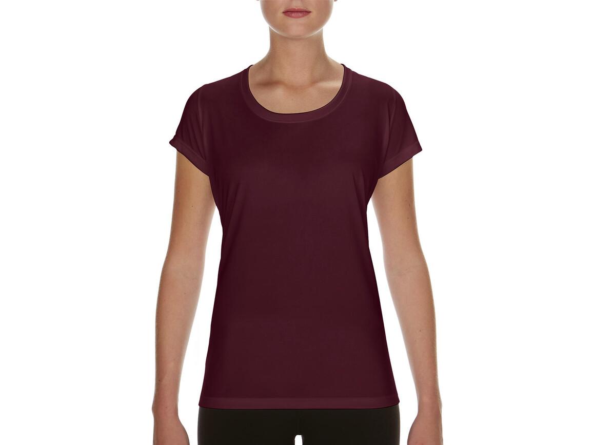 Gildan Performance Ladies` Core T-Shirt, Sport Dark Maroon, L bedrucken, Art.-Nr. 010094185