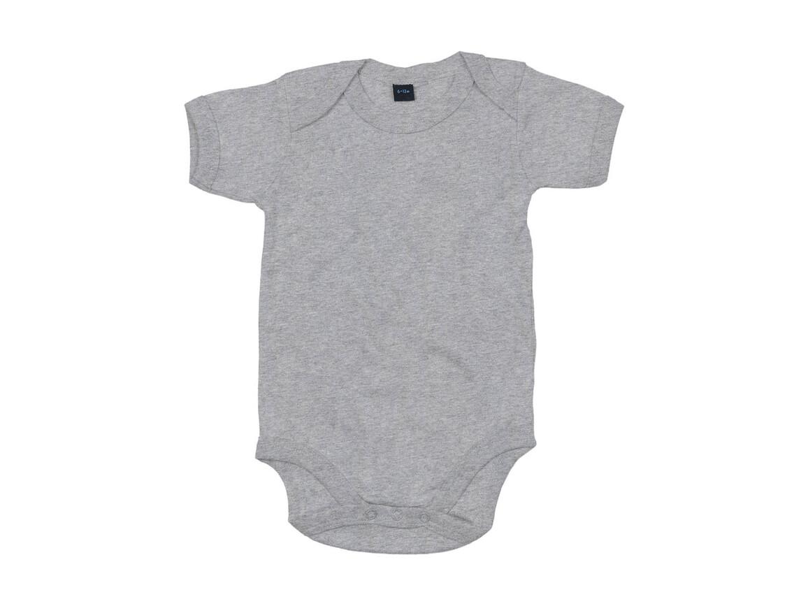 BabyBugz Baby Bodysuit, Heather Grey Melange, 0-3 bedrucken, Art.-Nr. 010471261