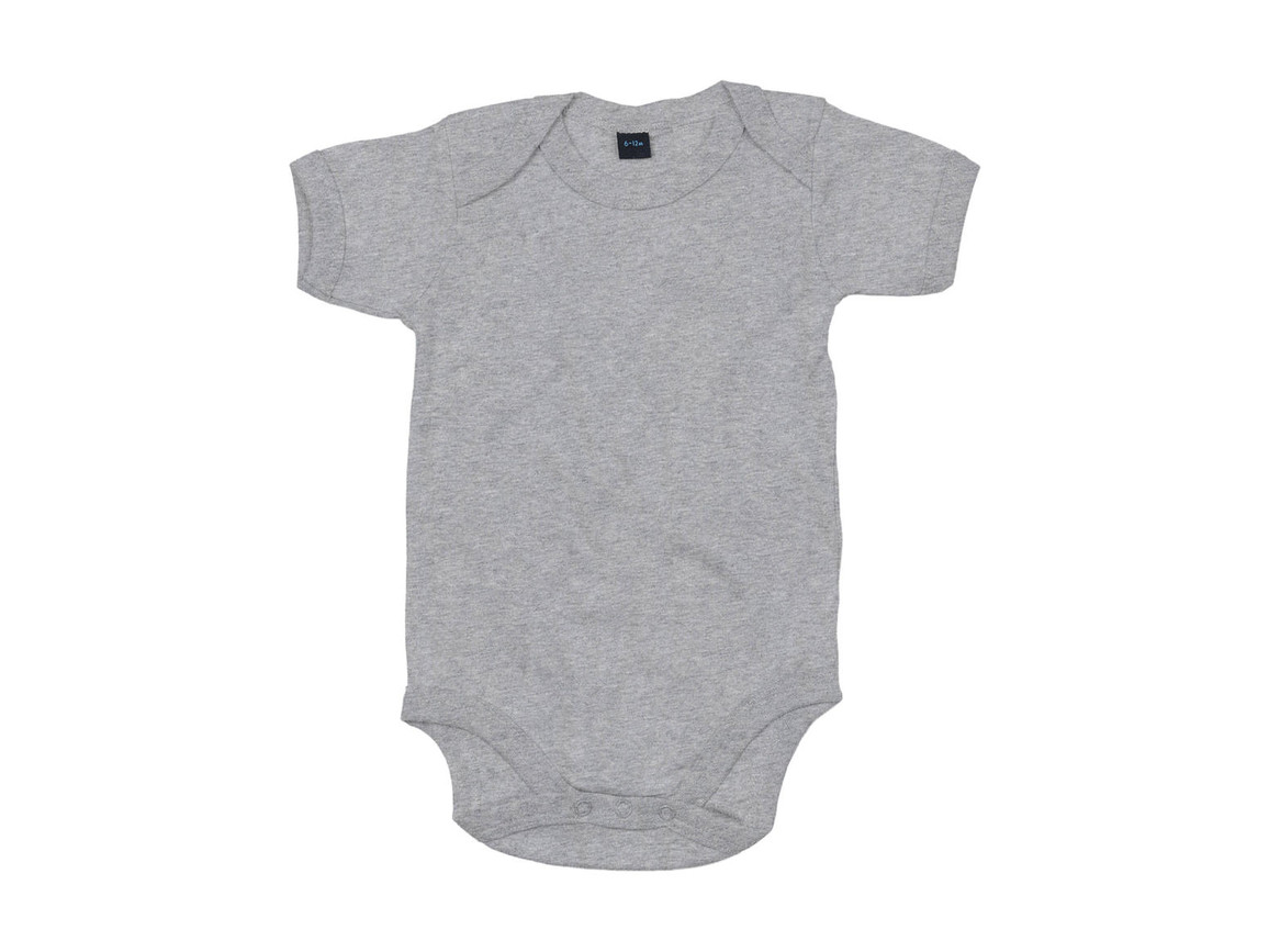 BabyBugz Baby Bodysuit, Heather Grey Melange, 12-18 bedrucken, Art.-Nr. 010471264