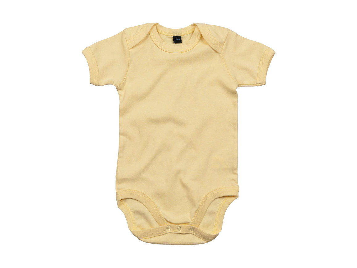 BabyBugz Baby Bodysuit, Soft Yellow, 0-3 bedrucken, Art.-Nr. 010476041