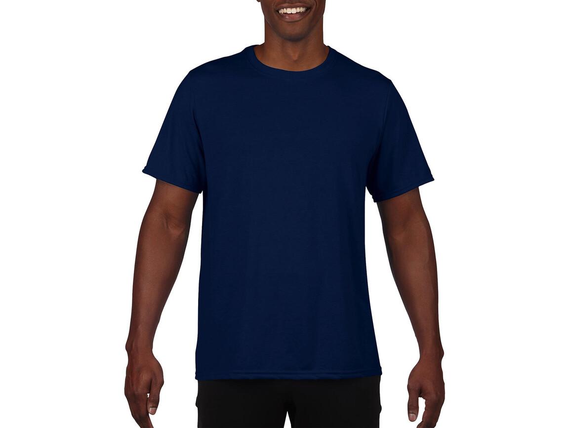 Gildan Performance Adult Core T-Shirt, Sport Dark Navy, XL bedrucken, Art.-Nr. 011092036
