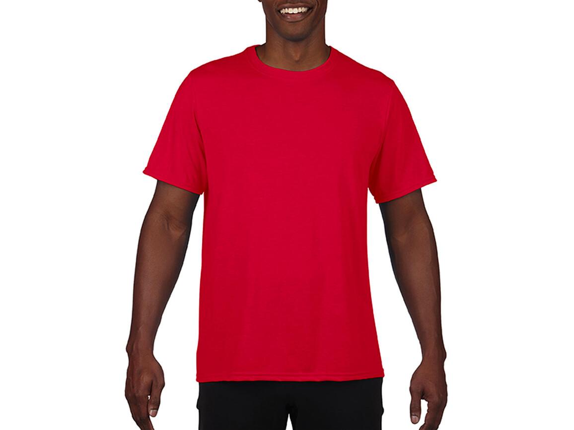 Gildan Performance Adult Core T-Shirt, Sport Scarlet Red, M bedrucken, Art.-Nr. 011094154