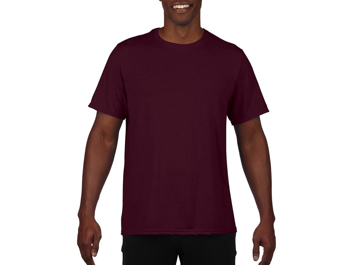 Gildan Performance Adult Core T-Shirt, Sport Dark Maroon, S bedrucken, Art.-Nr. 011094183
