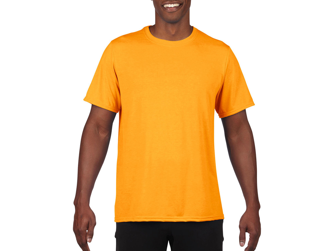 Gildan Performance Adult Core T-Shirt, Sport Athletic Gold, 3XL bedrucken, Art.-Nr. 011096118