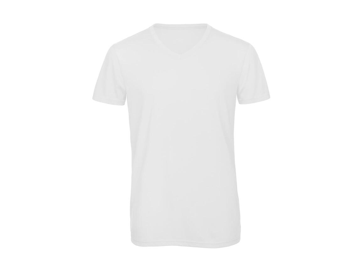B & C V Triblend/men T-Shirt, White, 2XL bedrucken, Art.-Nr. 011420007