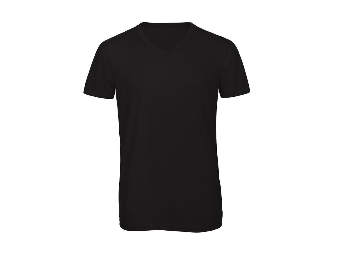 B & C V Triblend/men T-Shirt, Black, 2XL bedrucken, Art.-Nr. 011421017