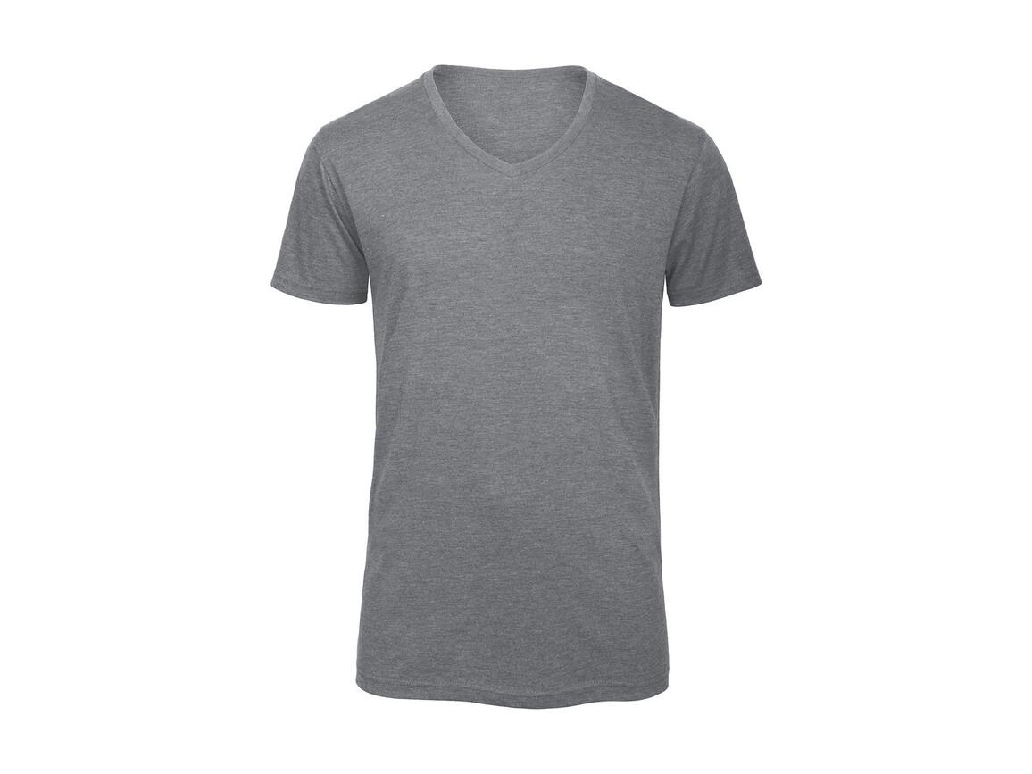 B & C V Triblend/men T-Shirt, Heather Light Grey, L bedrucken, Art.-Nr. 011421135