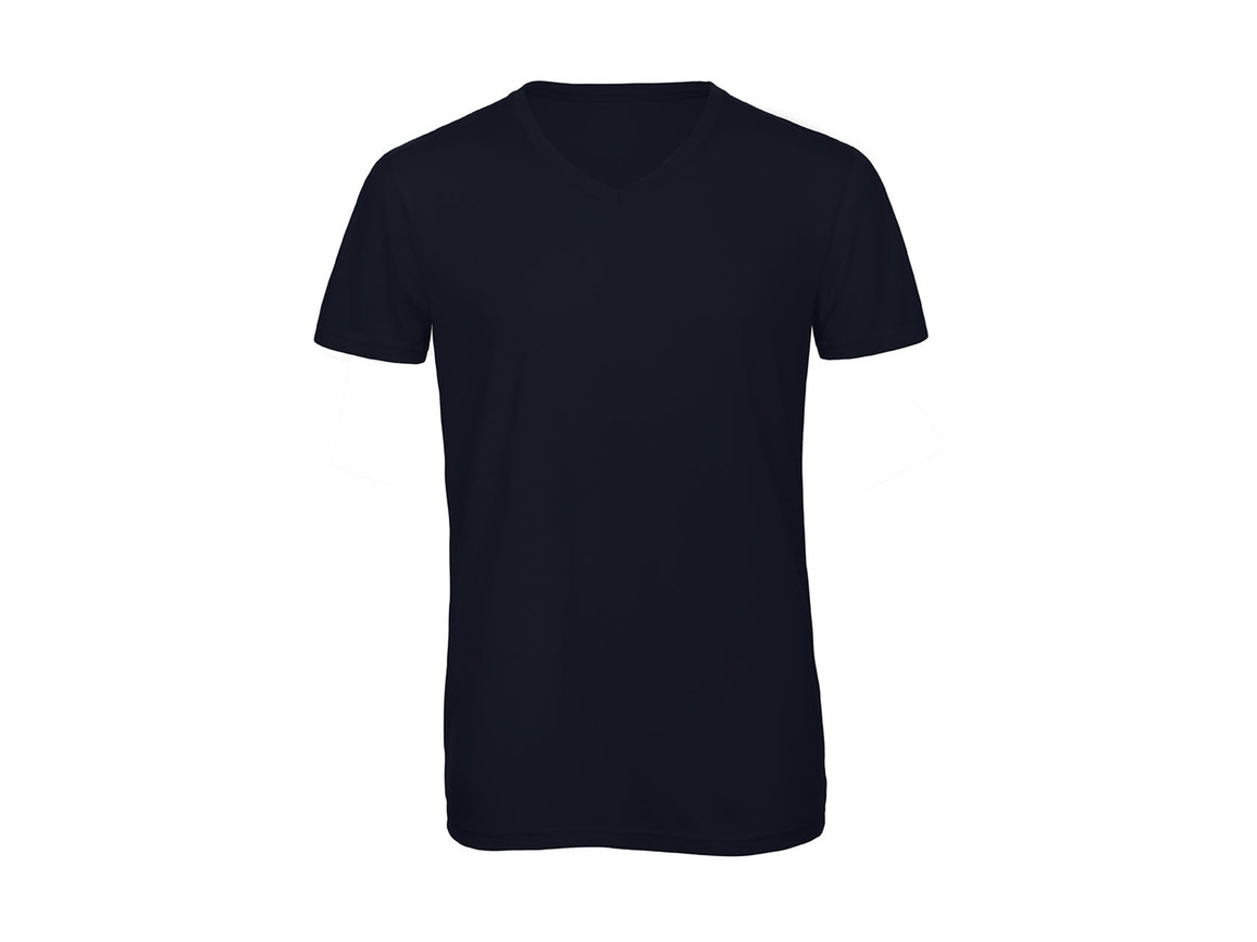 B & C V Triblend/men T-Shirt, Navy, L bedrucken, Art.-Nr. 011422005