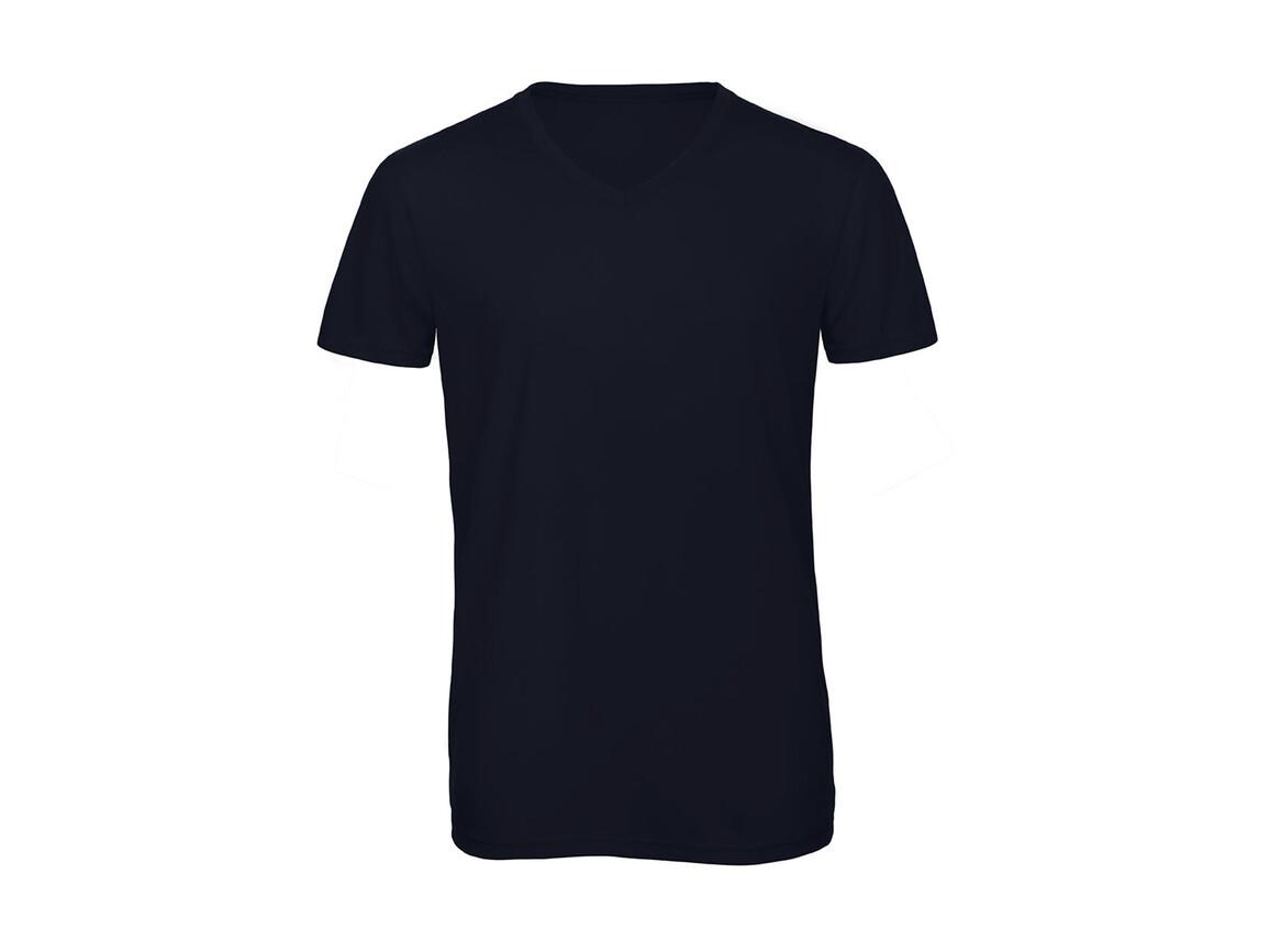 B & C V Triblend/men T-Shirt, Navy, M bedrucken, Art.-Nr. 011422004