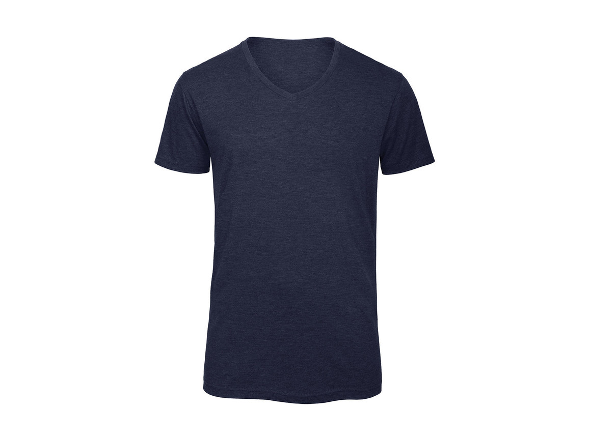 B & C V Triblend/men T-Shirt, Heather Navy, 3XL bedrucken, Art.-Nr. 011422048