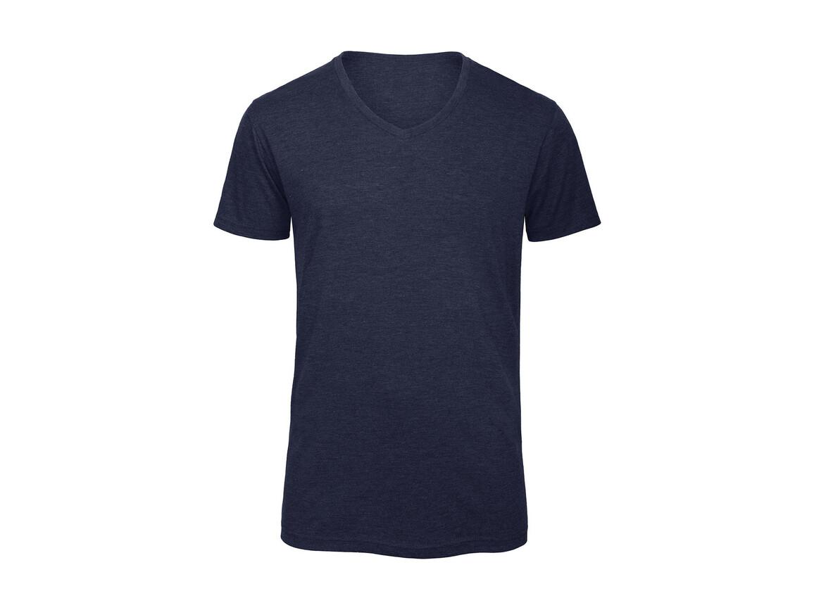 B & C V Triblend/men T-Shirt, Heather Navy, S bedrucken, Art.-Nr. 011422043