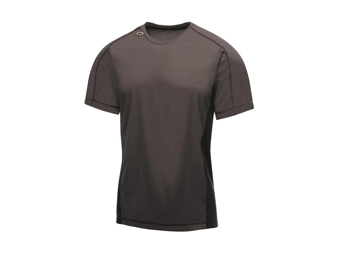 Regatta Beijing T-Shirt, Iron/Black, L bedrucken, Art.-Nr. 020171135
