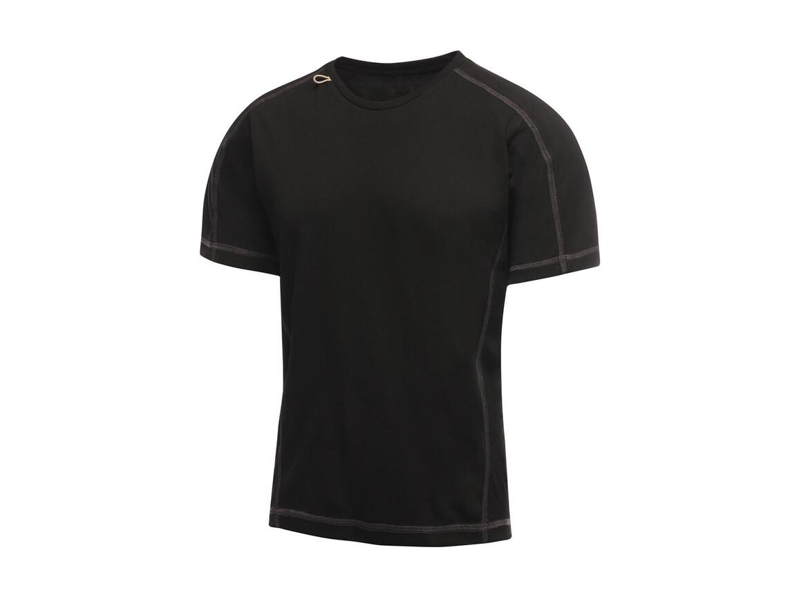 Regatta Beijing T-Shirt, Black/Black, M bedrucken, Art.-Nr. 020171524