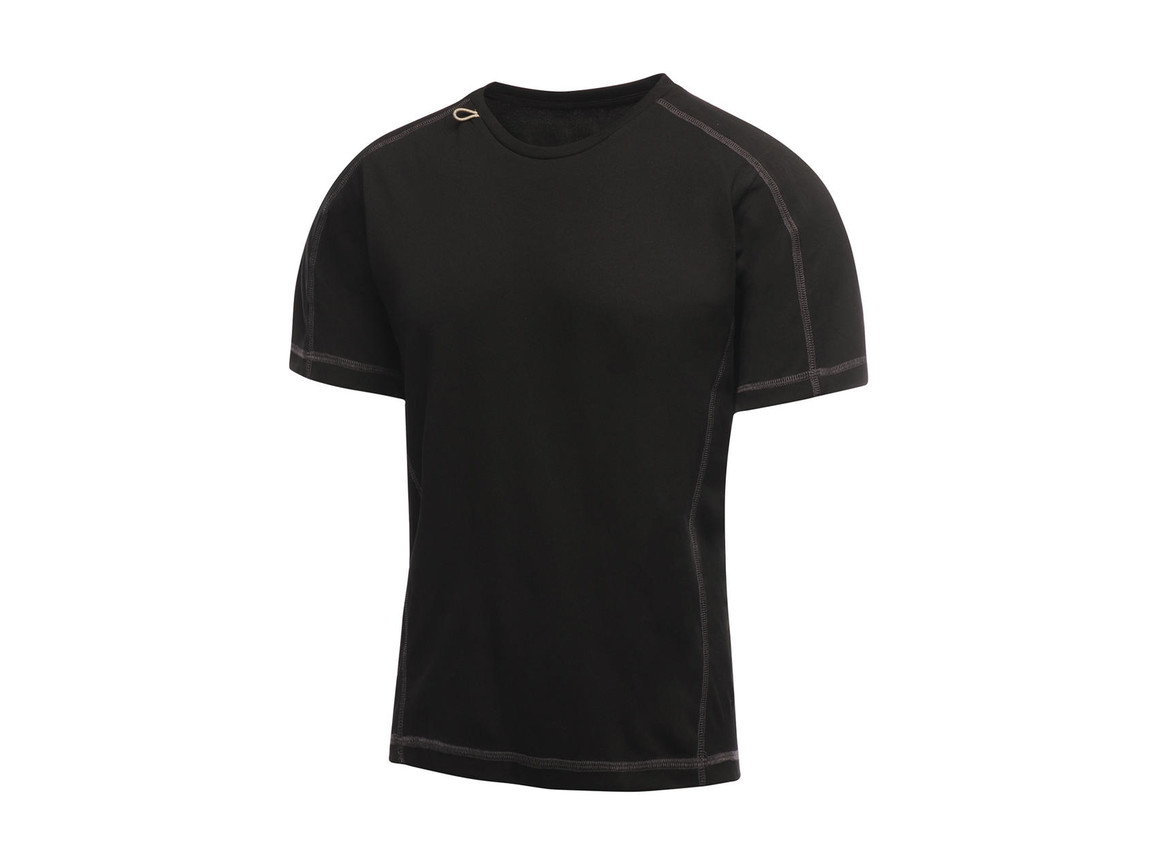 Regatta Beijing T-Shirt, Black/Black, XL bedrucken, Art.-Nr. 020171526
