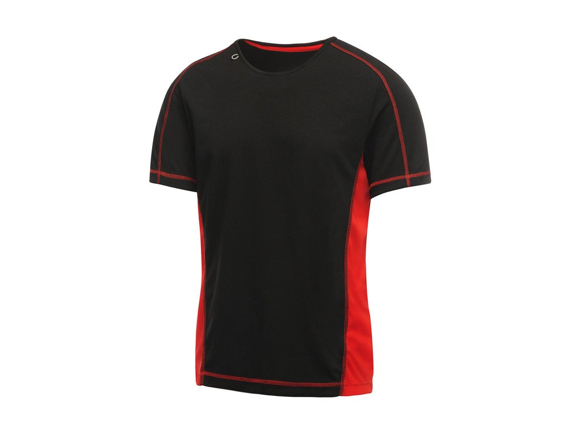 Regatta Beijing T-Shirt, Black/Classic Red, L bedrucken, Art.-Nr. 020171575
