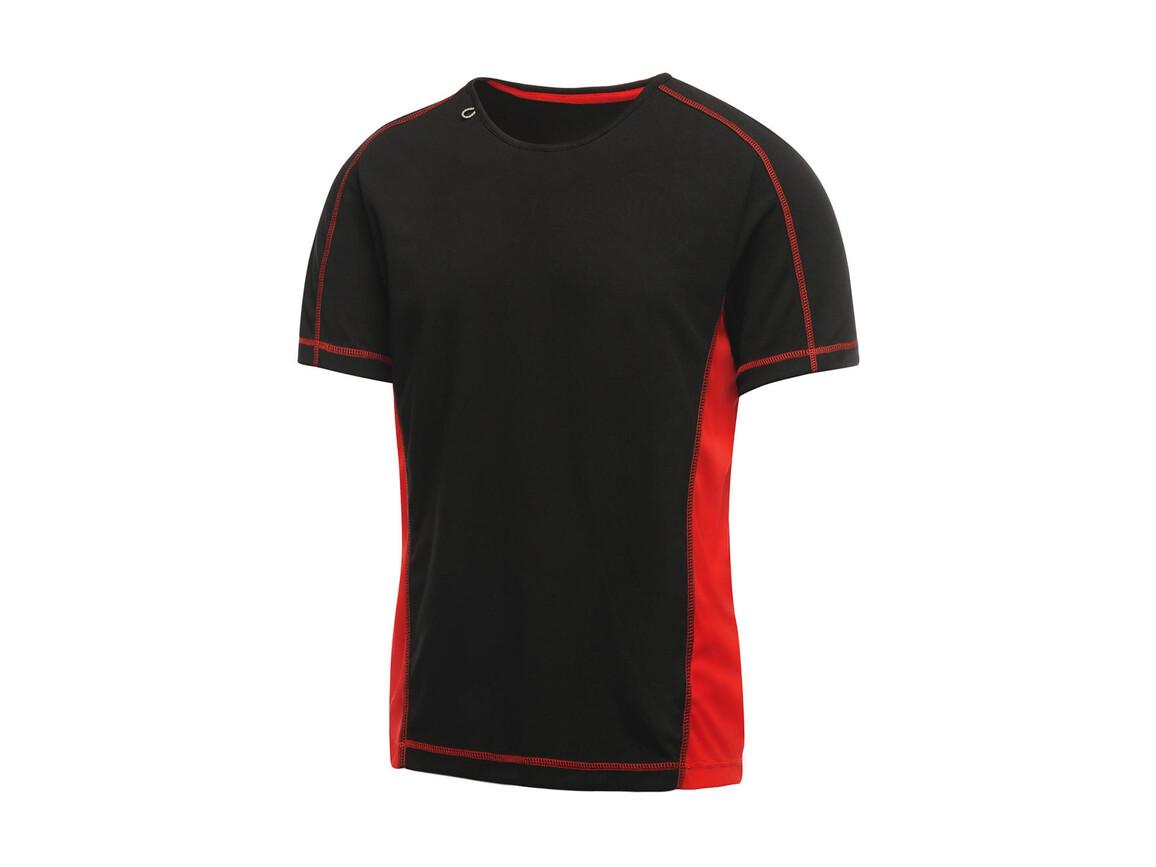 Regatta Beijing T-Shirt, Black/Classic Red, XL bedrucken, Art.-Nr. 020171576