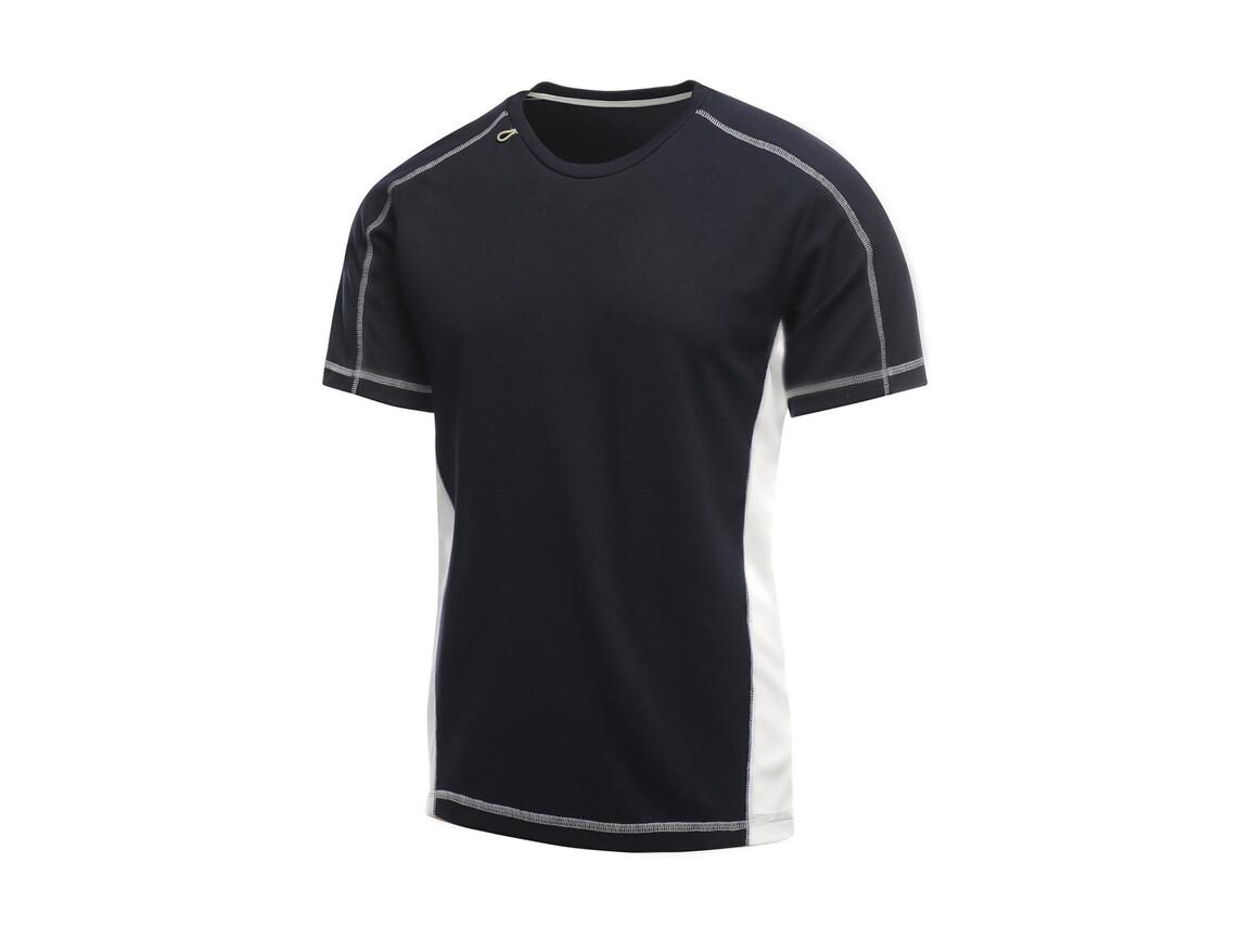 Regatta Beijing T-Shirt, Navy/White, XL bedrucken, Art.-Nr. 020172536