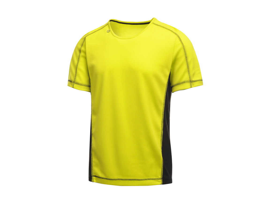 Regatta Beijing T-Shirt, Lime Zest/Black, XL bedrucken, Art.-Nr. 020175546